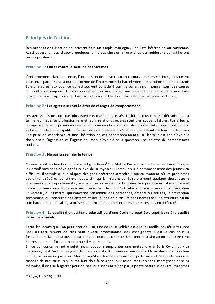 Principes de l'actionDes propositions d'action ne peuvent être un simple catalogue, une liste hétéroclite ou convenue.Auss...