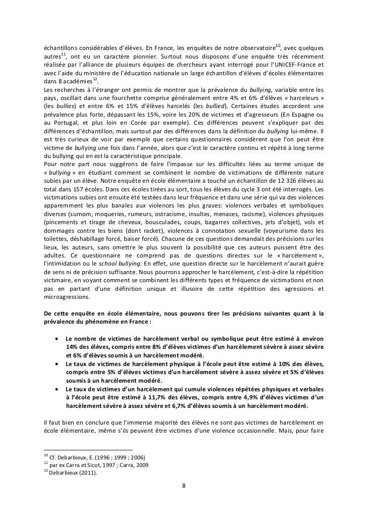 échantillons considérables d'élèves. En France, les enquêtes de notre observatoire10, avec quelquesautres11, ont eu un car...