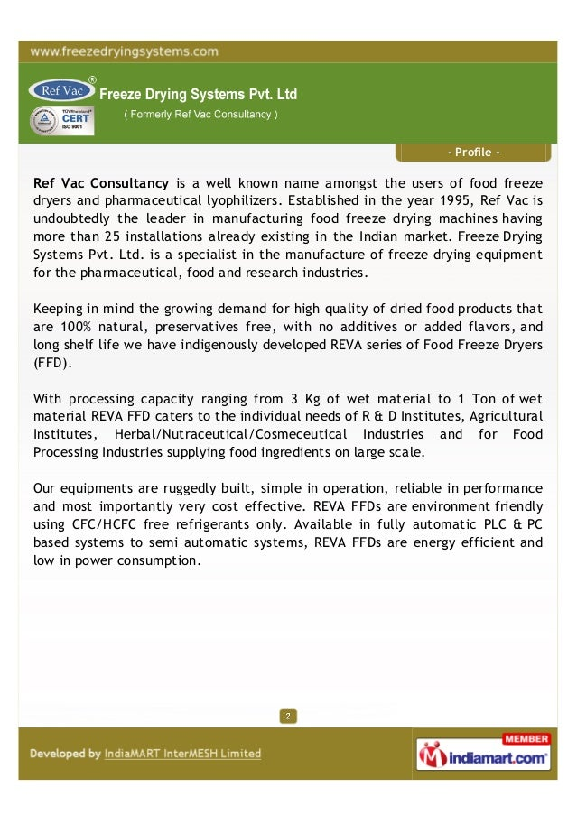 Ref Vac Consultancy, Vadodara,Freeze drying machines Slide 2