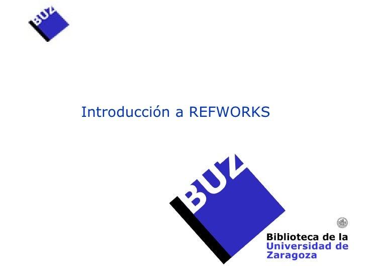 Introducción a REFWORKS