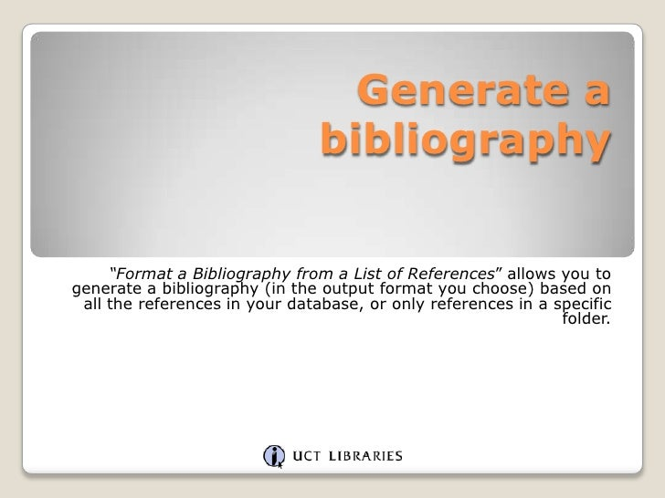 how to create bibliography in endnote
