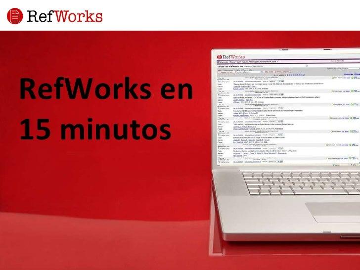 RefWorks en  15 minutos