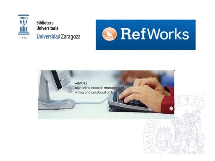 Refworks iniciación primerogrado Slide 1
