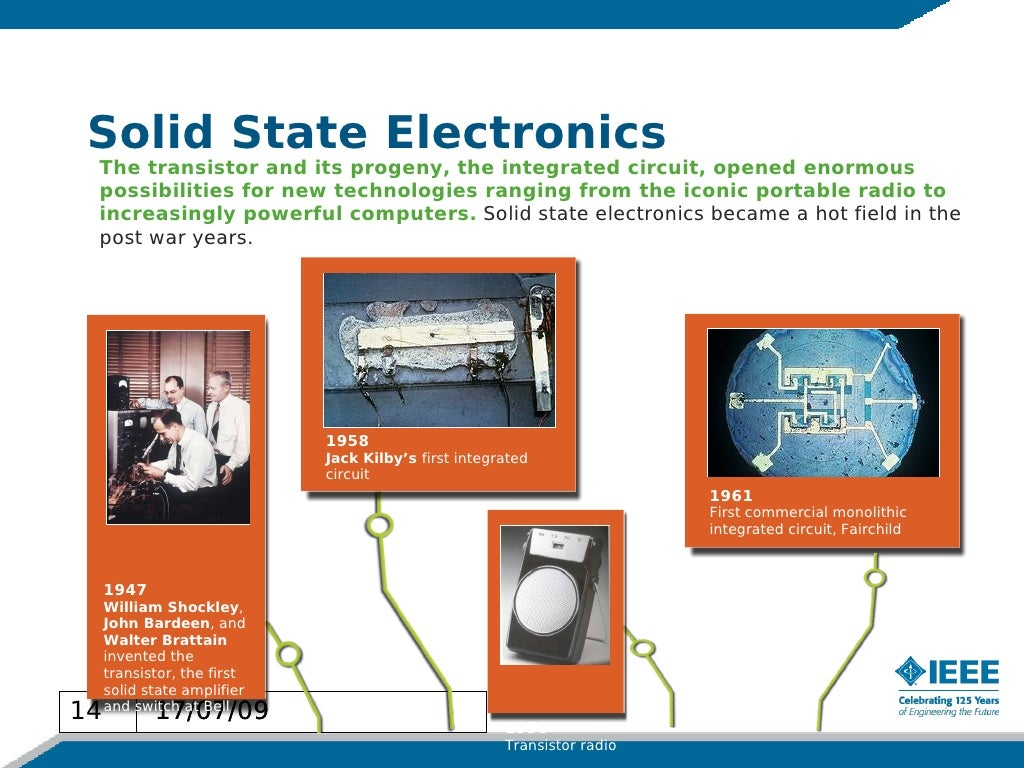 Solid State Electronics The Transistor Integrated Circuit Is Invented By Jack Kilby In 1958