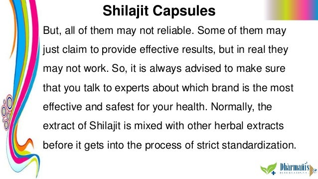 Shilajit Capsules But, all of them may not reliable. Some of them may just claim to provide effective results, but in real...