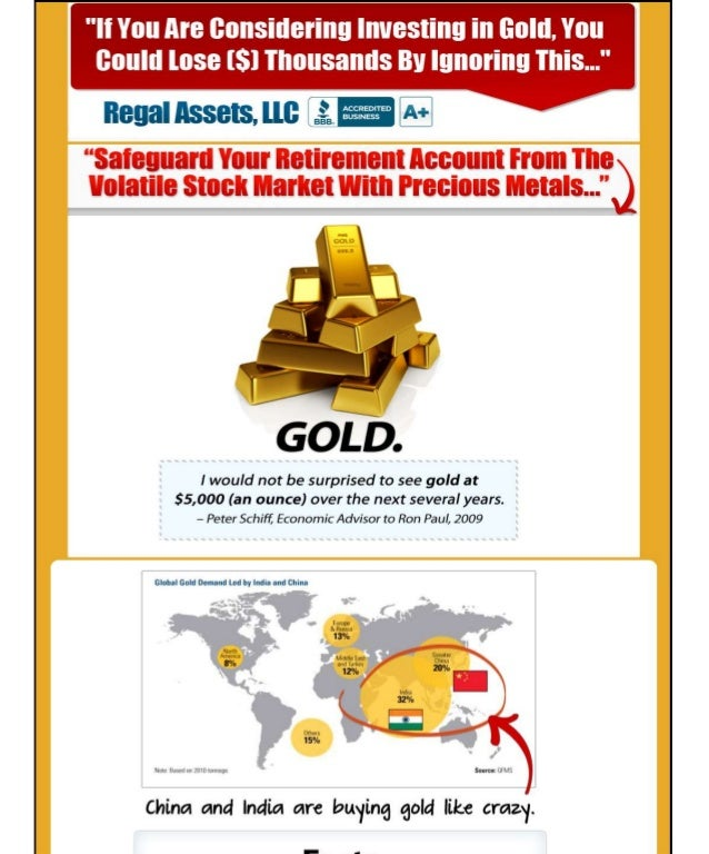 Regal assets review - Gold IRA rollover investment guide, options and Advice