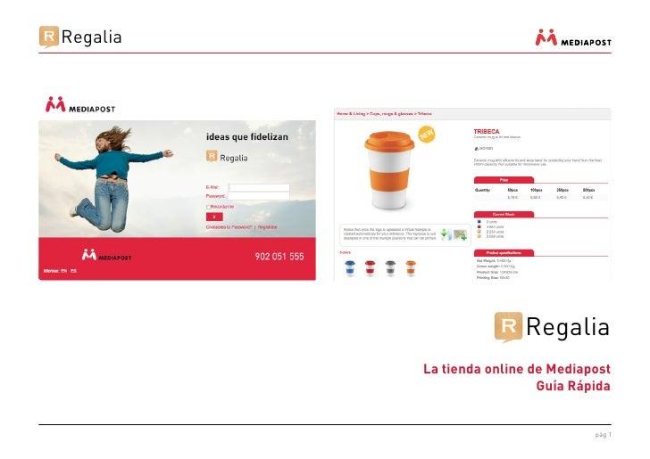 Regalia                         Regalia          La tienda online de Mediapost                            Guía Rápida     ...