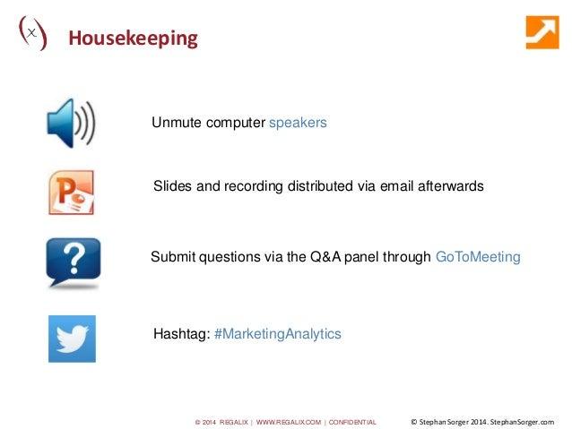 """Marketing Analytics: How, Why & When"" Slide 2"