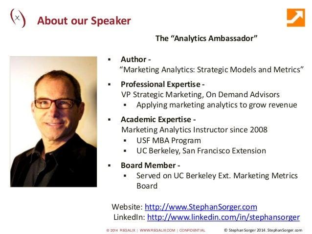 """Marketing Analytics: How, Why & When"" Slide 3"