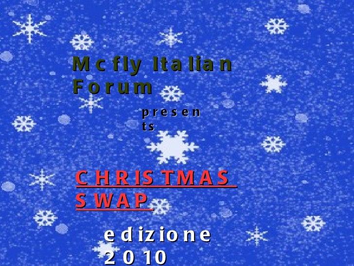 Mcfly   Italian   Forum presents CHRISTMAS SWAP edizione 2010