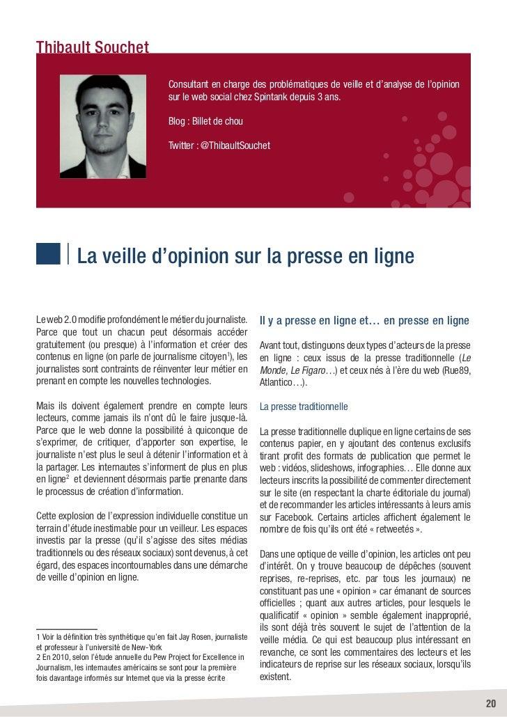 Thibault Souchet                                            Consultant en charge des problématiques de veille et d'analyse...