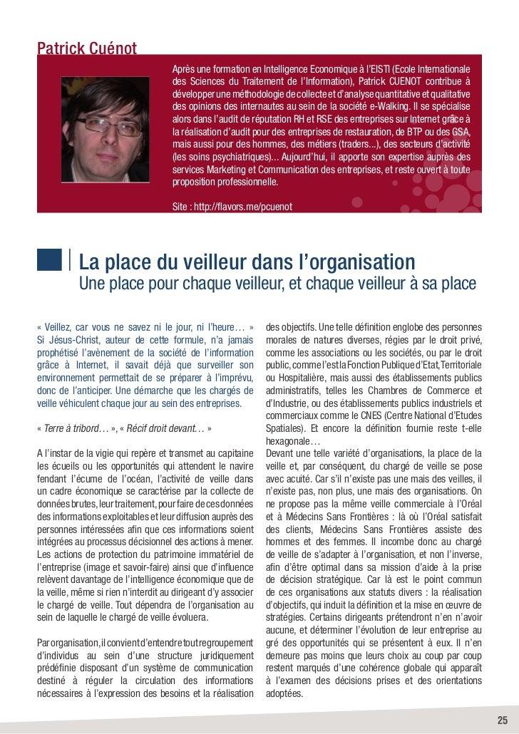 Patrick Cuénot                                     Après une formation en Intelligence Economique à l'EISTI (Ecole Interna...