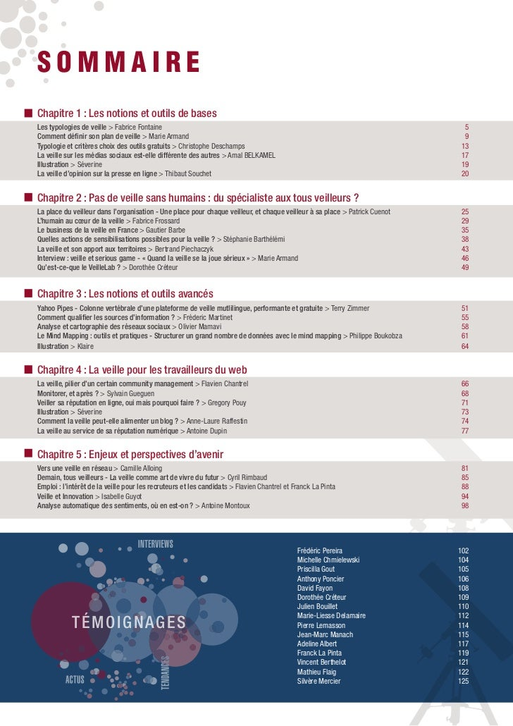 SOMMAIREChapitre 1 : Les notions et outils de basesLes typologies de veille > Fabrice Fontaine                            ...