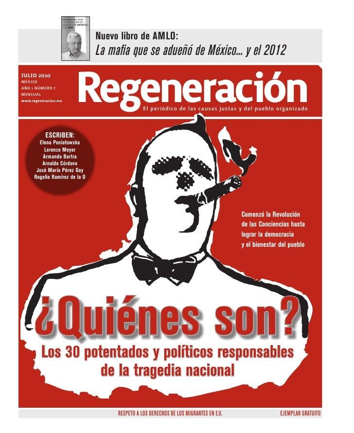 Nuevo libro de AMLO:                                 La mafia que se adueñó de México... y el 2012 julio 2010 MÉXICO AÑO 1...