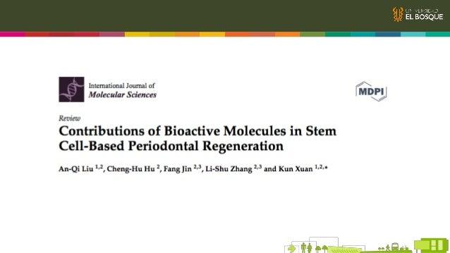 Generalidades IV. Moléculas bioactivas actúan como señales moleculares que modulan MSC y recrean el microambiente Microamb...