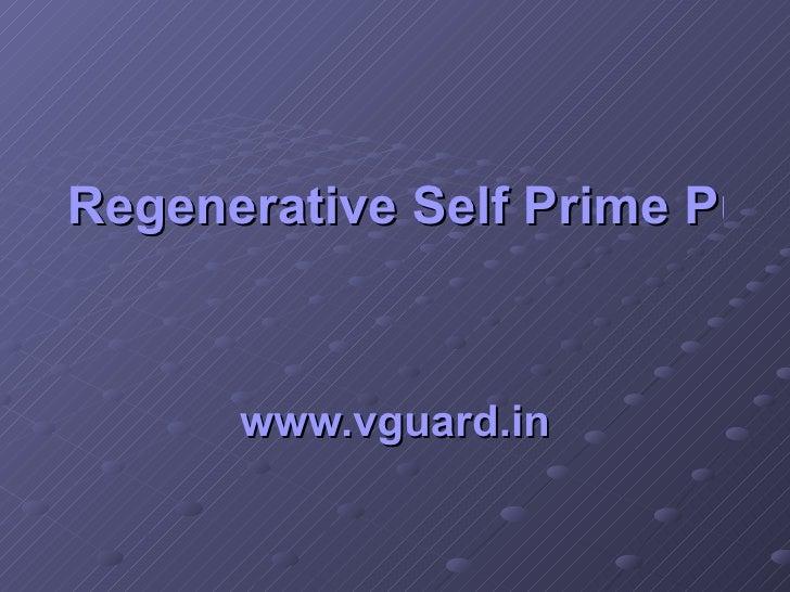 Regenerative Self Prime Pumps   www.vguard.in