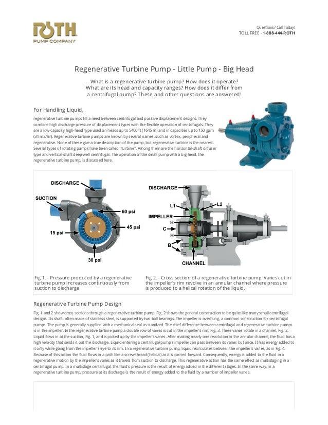 Regenerative Turbine Pump - Little Pump - Big Head What is a regenerative turbine pump? How does it operate? What are its ...