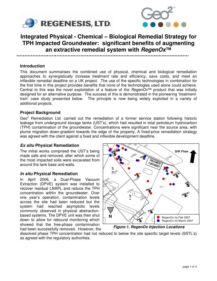 Integrated Physical - Chemical – Biological Remedial Strategy for  TPH Impacted Groundwater: significant benefits of augme...