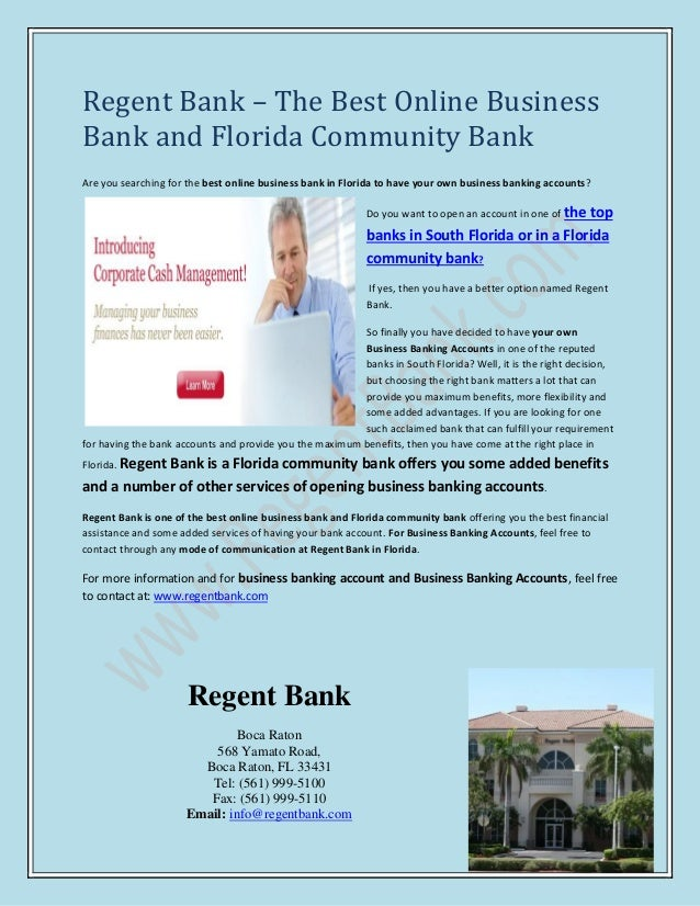 The Best Online Business Bank And Florida