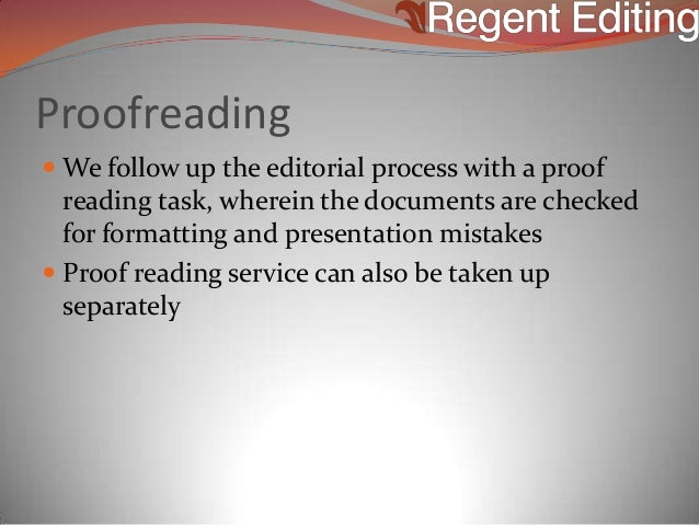 Dissertation editing