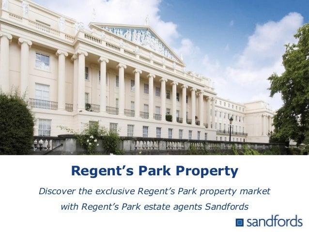 Regent's Park Property Discover the exclusive Regent's Park property market with Regent's Park estate agents Sandfords