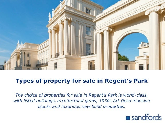 Types of property for sale in Regent's Park The choice of properties for sale in Regent's Park is world-class, with listed...