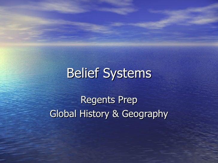 Belief system regents essay