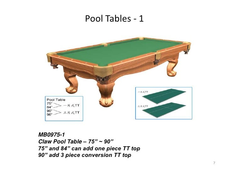 Regent Table Game Program - Regent pool table