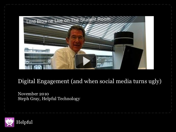 Digital Engagement (and when social media turns ugly)  November 2010 Steph Gray, Helpful Technology