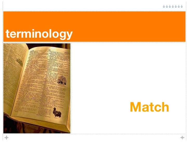 terminology                   Match