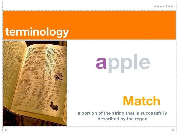 terminology                        a                       apple                                     Match               a...