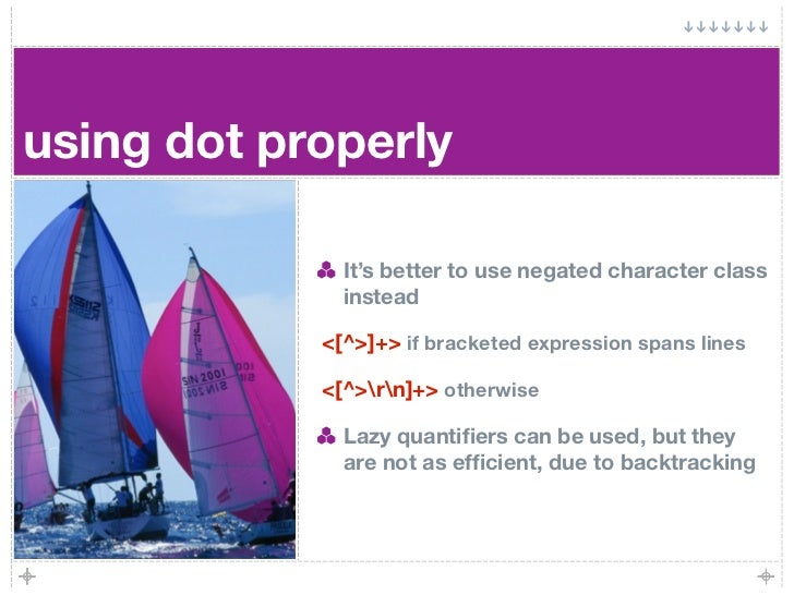 using dot properly                It's better to use negated character class               instead              <[^>]+> if...