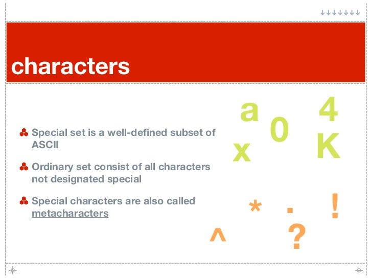 characters                                          a     4  Special set is a well-defined subset of                       ...
