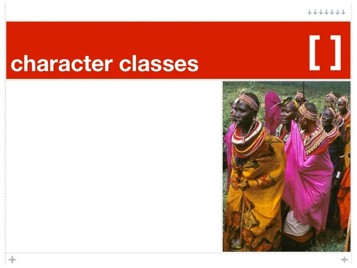 character classes   []