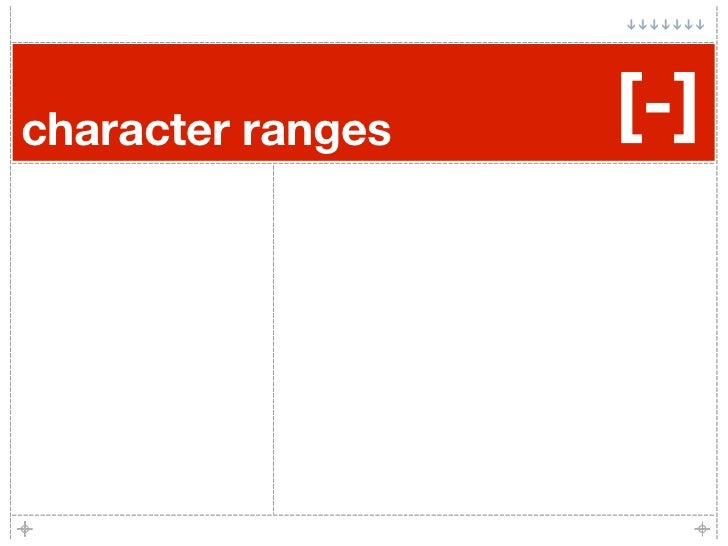 character ranges   [-]