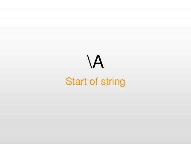 A Start of string