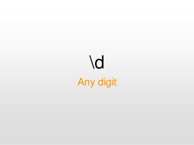 d Any digit