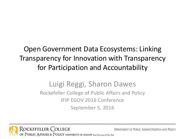 Open Government Data Ecosystems: Linking Transparency for Innovation with Transparency for Participation and Accountabilit...