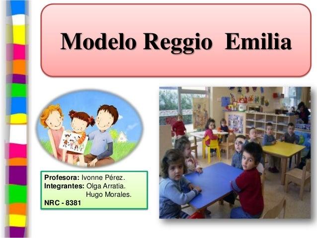 Modelo Reggio EmiliaProfesora: Ivonne Pérez.Integrantes: Olga Arratia.             Hugo Morales.NRC - 8381