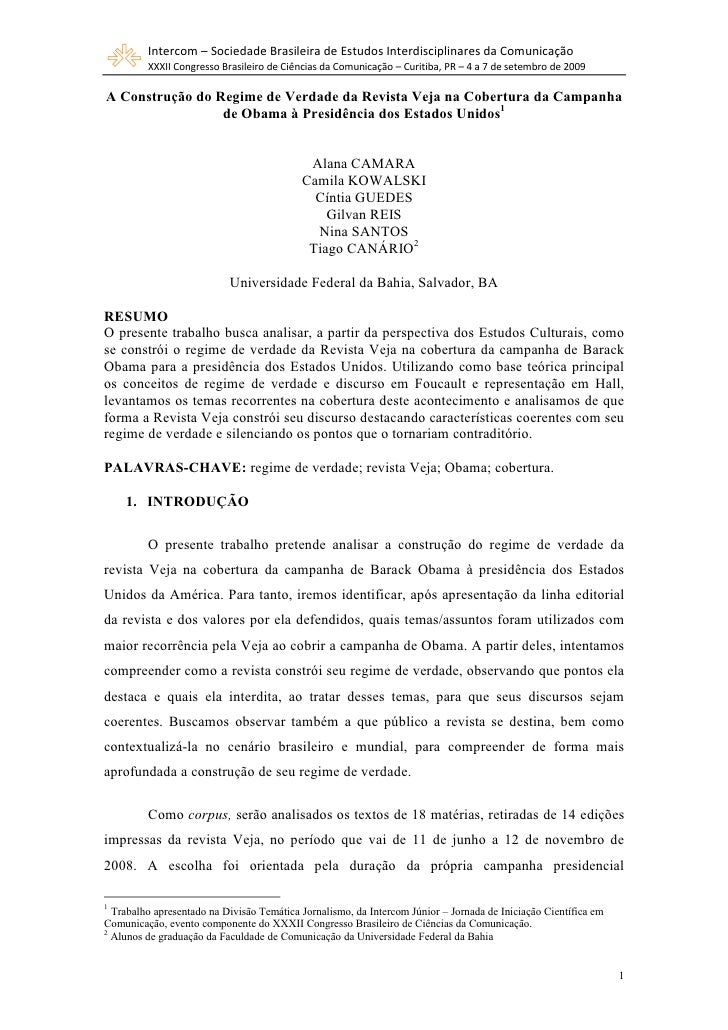 Intercom – Sociedade Brasileira de Estudos Interdisciplinares da Comunicação          XXXII Congresso Brasileiro de Ciênci...