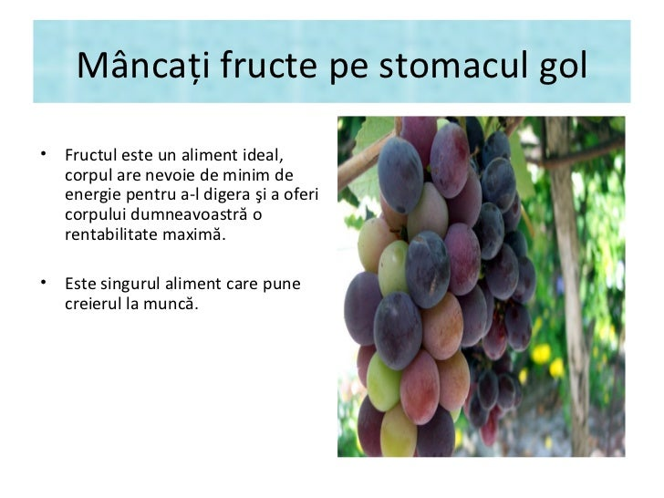 """""""Regime fruits"""" - Mâncaţi fructe pe stomacul gol Slide 2"""