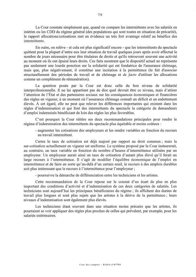 Cour des comptes : le régime d'indemnisation du chômage à l'issue des emplois précaires