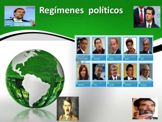 Regímenes políticos1