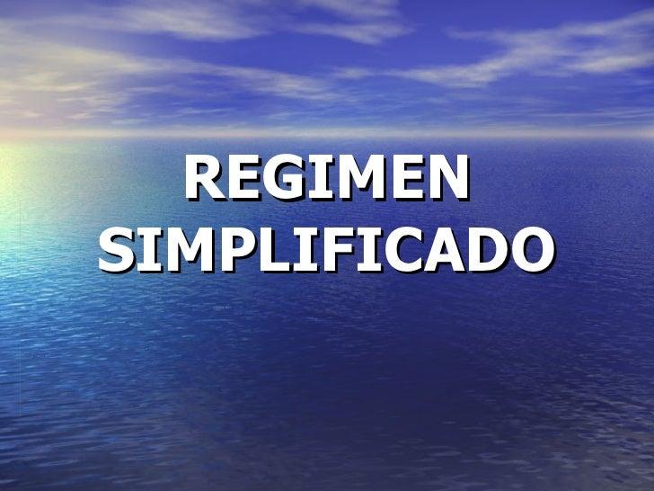 REGIMEN SIMPLIFICADO