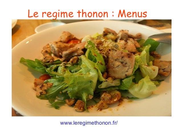 Le regime thonon: Menus www.leregimethonon.fr/