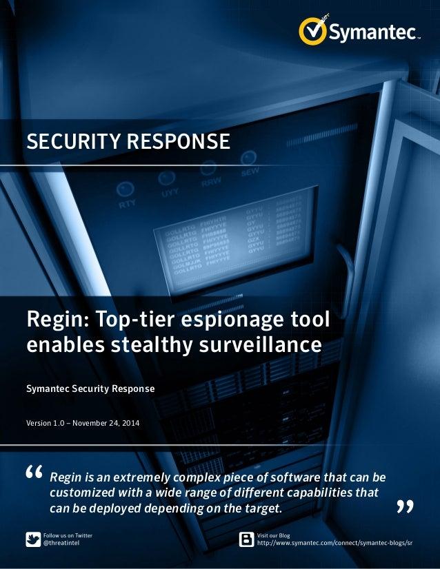 Regin: Top-tier espionage tool enables stealthy surveillance