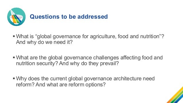Global governance architecture to enhance food security and nutrition Slide 2