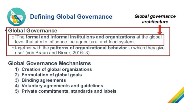 Global governance architecture to enhance food security and nutrition Slide 3