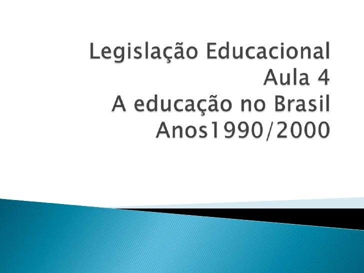     Na década de 90 a educação é considerada como    promotora     de    competitividade,  conforme    preceitos neoliber...