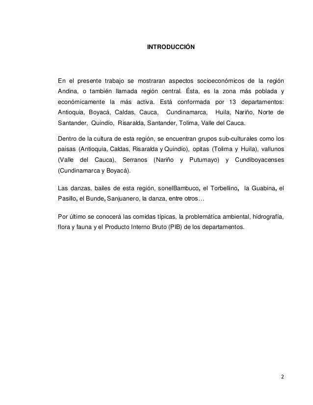 Regi n central o andina de colombia for Introduccion a la gastronomia pdf